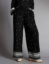 NEW Marks & Spencer AUTOGRAPH Palazzo, Silky Wide Leg Trousers 6M, Black