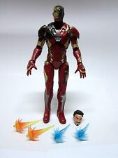 "MARVEL LEGENDS 6"" 2016 CIVIL WAR IRON MAN STARK LOOSE ACTION FIGURE FROM 3 PACK"