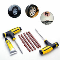 Car Tubeless Tyre Tire Puncture Repair Plug Repair Kit Needle Patch Fix Tool