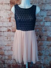 D. Darlin Dress Size 7/8 Navy and Pink