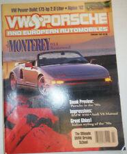 VW & Porsche Magazine The Monterey & Porsche & BMW 850i February 1991 030315r