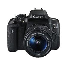 Canon EOS 750D / Rebel T6i 24.2 MP SLR-Digitalkamera - Schwarz (Kit m/ EF-S 18-55mm f/3.5-5.6 IS STM Objektiv)