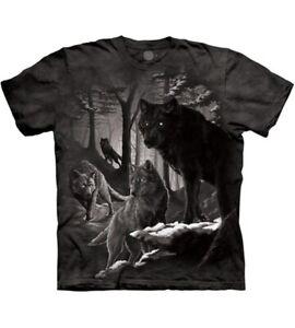 Dire Winter Wolves T-Shirt Wolf Oversized Print Mountain Direwolf Howl Adult
