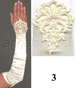 Fingerless Over Elbow Length Stretch Satin Halloween Party Costume Opera Gloves