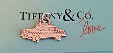 Authentic Tiffany & Co Sterling Silver Taxi Cab Pendant Charm Bracelet Necklace