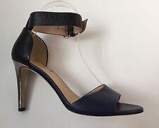 JCREW Marbella Colorblock Heels Size 7.5 Haven Blue NEW $268 B5990 Women's Shoes