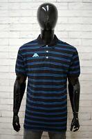 Polo Uomo KAPPA Taglia Size XXL Maglia Shirt Cotone Nero Manica Corta