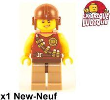 Lego Figurine Minifig Dino dinosaure chasseur explorateur Hero casque NEUF
