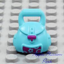 NEW Lego Female Minifig AZURE BACK PACK  - Girl Friends Knapsack School Hand Bag