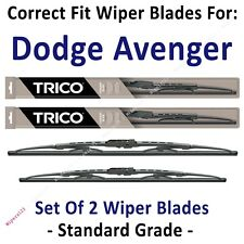 Wiper Blades 2-Pack Standard Wipers - fit 1995-2014 Dodge Avenger - 30240/221