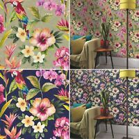 Tropical Exotic Wallpaper Bird Of Paradise Flowers Floral Holden Blue Gold