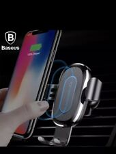 Baseus 10W QI Wireless Charger Car Mount Holder For iPhone X 8 Samsung Note8 S8