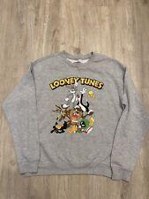 New listing Warner Bros Looney Tunes Crewneck Sweatshirt Gray Bugs Bunny Men's Size Medium