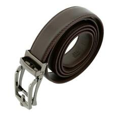 2017 New Comfort Click Belt PU Leather With Steel Brown And Black For Men Q