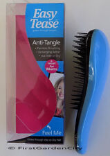 GENUINE EASY TEASE BLUE ANTI-TANGLE BRUSH FOR WET & DRY HAIR FREE POST & PACK