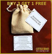 HANGOVER SURVIVAL KIT HEN STAG BRIDE BIRTHDAY PARTY WEDDING FAVOUR HANGOVER CURE