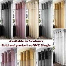 Madeira Voile Curtain Panel Crushed Silk Metallic Eyelet Sheer Ring Top Panels