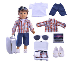 Clothes for Doll Baby Born Logan Doll Travel Accessories Jacket,Hand Luggage