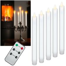 5 Set LED Candles with Remote Control Timer Moving Flame Table Candle Wax