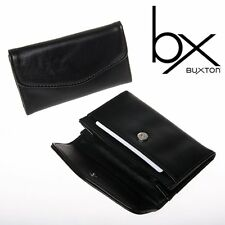 Buxton Black Faux Leather Snap Business Card Case Holders Wallet (Pack of 10)