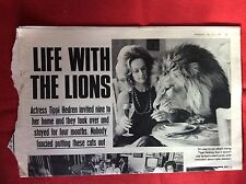 m2c ephemera 1972 picture article tippi hedren life with lions