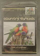 Lots of Lorikeets Cross Stitch Kit by Country Threads 34 x 44cm