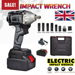 """18V 1/2"""" Driver Cordless Impact Wrench Brushless With Battery + Charge Set"""