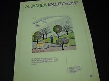 Al Jarreau all singing all captivating All Fly Home 1978 Promo Poster Ad mint