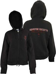 Reebok NBA Women's Houston Rockets Vintage Logo Full Zip Fleece Jacket, Black