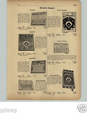 1951 PAPER AD Electric Game Baseball Basketball TV Quiz Jim Prentice Football