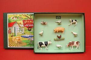 Herald #H7555 Farm (Reproduction) Box Set with Cows, Calves, Ducks, 10 Pieces