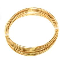 Bead Craft Wire Gilt on Copper for Jewellery Making 0.80mm - 6 Metres (C68/3)