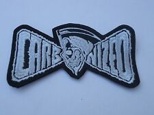 CARBONIZED EMBROIDERED LOGO DEATH METAL PATCH