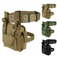 Outdoor Waterproof Tactical Military Drop Leg Bag Motorcycle Waist Nylon Pack