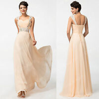 Sequins Long Ball Gown Party Prom Cocktail Wedding Bridesmaid Dress Evening Gown