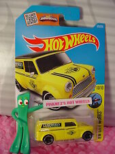 2016 i Hot Wheels '67 AUSTIN MINI VAN #175✿Yellow/Black;Campbell Garage✿Case P/Q