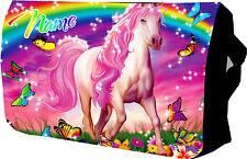 UNICORNO Rosa/Cavallo Scuola/College/Messenger/Borsa per portatile/Imbottita Regalo