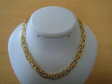 Plated Dsgnr 925 Solid Silver Collar Necklace Nr Vtg Slvr Gilt 18Ct 18Kt Y/Gold
