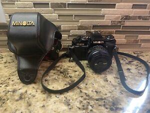 MINOLTA X-570 35MM SLR FILM CAMERA WITH 50MM 1:1.4 ROKKOR-X LENS WITH CAP & CASE