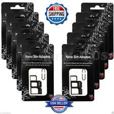 50X Nano SIM Card to Micro Standard Adapter Converter Set Fits iPhone 5 4S 4 5S