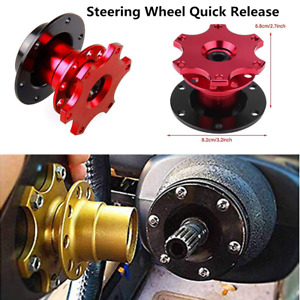Red CNC Racing Car Steering Wheel Quick Release Hub Adapter Snap Off Boss Kit