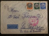 1939 Berlin Germany Airmail Cover To La Paz Bolivia Luftpost