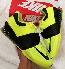 a99c3f16e1ee1 SIZE 15 MEN'S Nike Romaleos 3 Weightlifting Shoes Volt Black GYM 852933 700