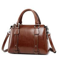 Vintage Women's Genuine Leather Shoulder Bag Embossed Handbag Purse Cowhide Hi-Q