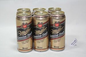 Harley 90th Anniversary Miller beer cans x6 1903-1993 collectible old EP21398