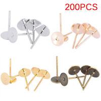200PCS/Bag DIY Jewelry Earrings Ear Stud Pin DIY Findings Making AccessoriessTO
