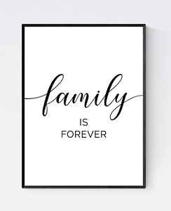 Family Is Everything Print - Living Room Quote Print, Family Quote