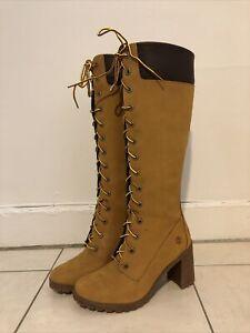 Timberland Allington 14 Inch Boots Knee High Zip Women Boots A1KBT Eu 38 Us 7