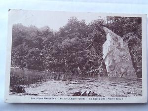 "Cpsm Les Alpes Mancelles St Ceneri(Orne) La Rocks so-Called "" Stone Beku """