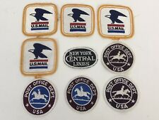 Vintage Post Office Patch Lot of 8 US MAIL Pony Express DEPT USA +1 NY Railroad